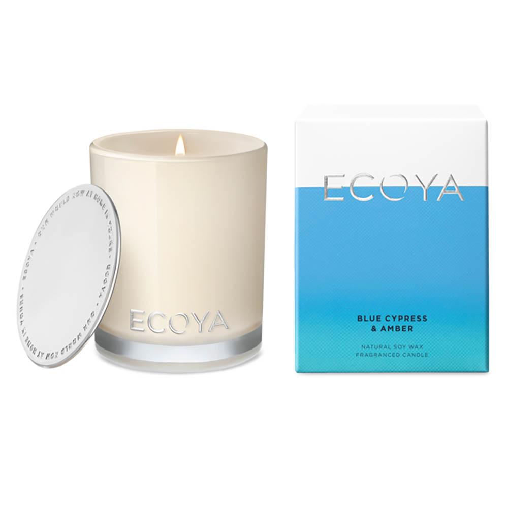 ECOYA Mini Madison Jar Candle - Blue Cypress & Amber