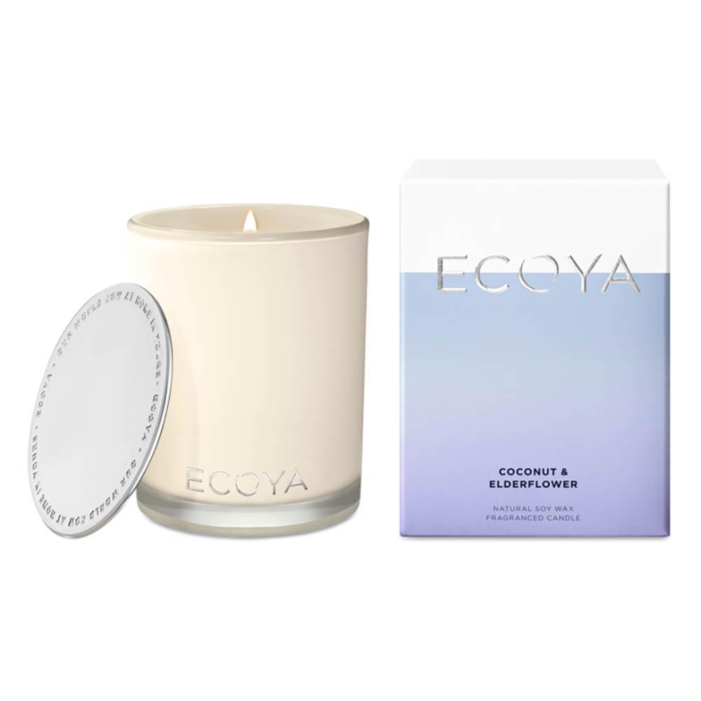 ECOYA Madison Jar Candle - Coconut & Elderflower