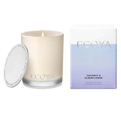 ECOYA Mini Madison Jar Candle - Coconut & Elderflower