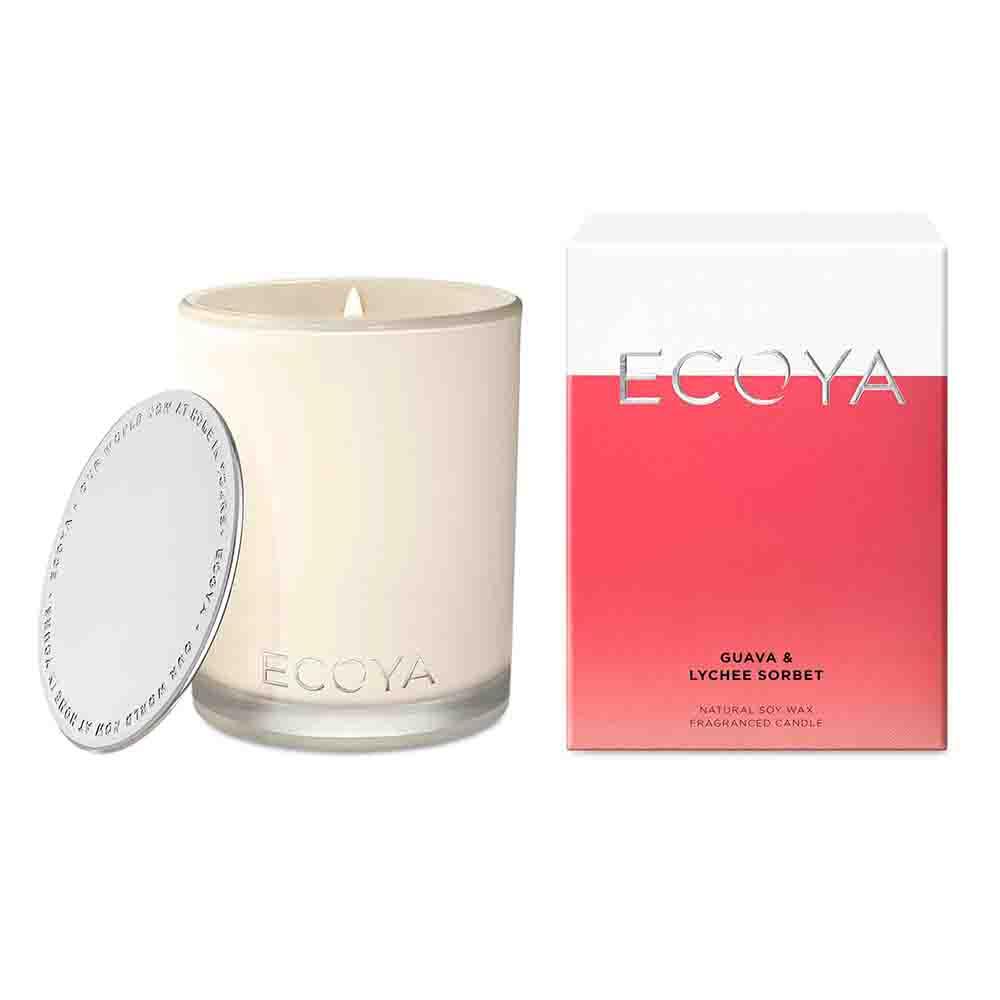 ECOYA Madison Jar Candle - Guava & Lychee
