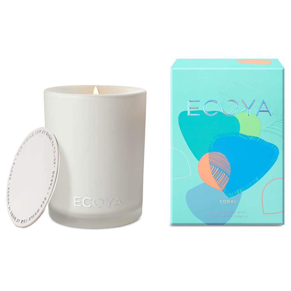ECOYA Madison Jar Candle - Coral