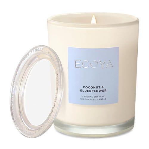 ECOYA Metro Jar Candle - Coconut & Elderflower