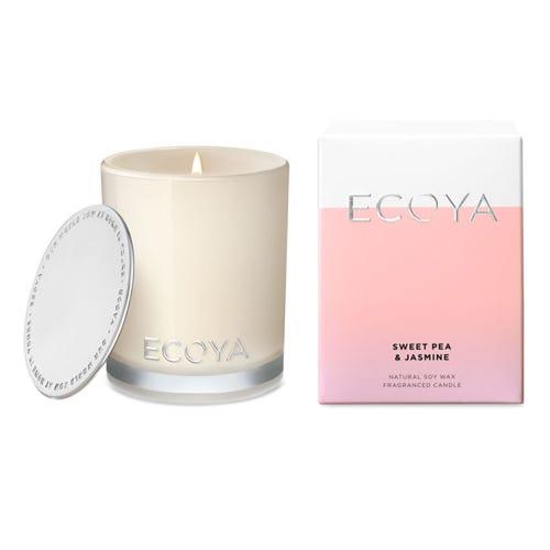 ECOYA Mini Madison Jar Candle - Sweet Pea & Jasmine