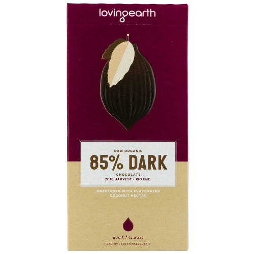 Loving Earth 85% Dark Chocolate (80g)