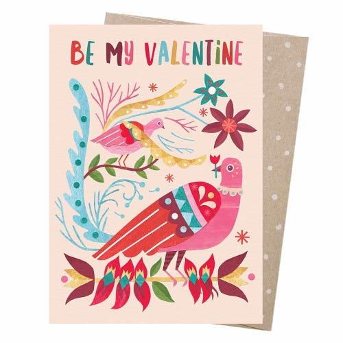Earth Greetings Blank Card - Lyrebird's Valentine