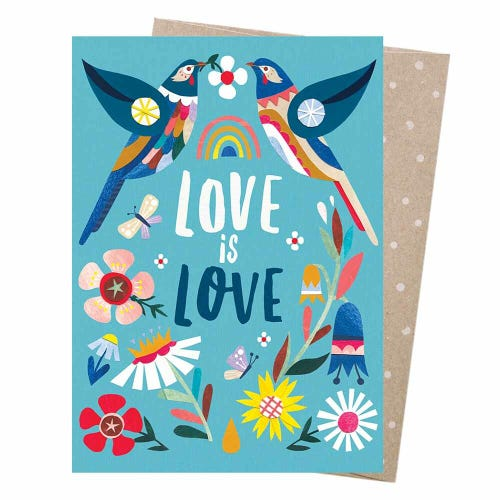 Earth Greetings Blank Card - Love Wattlebirds