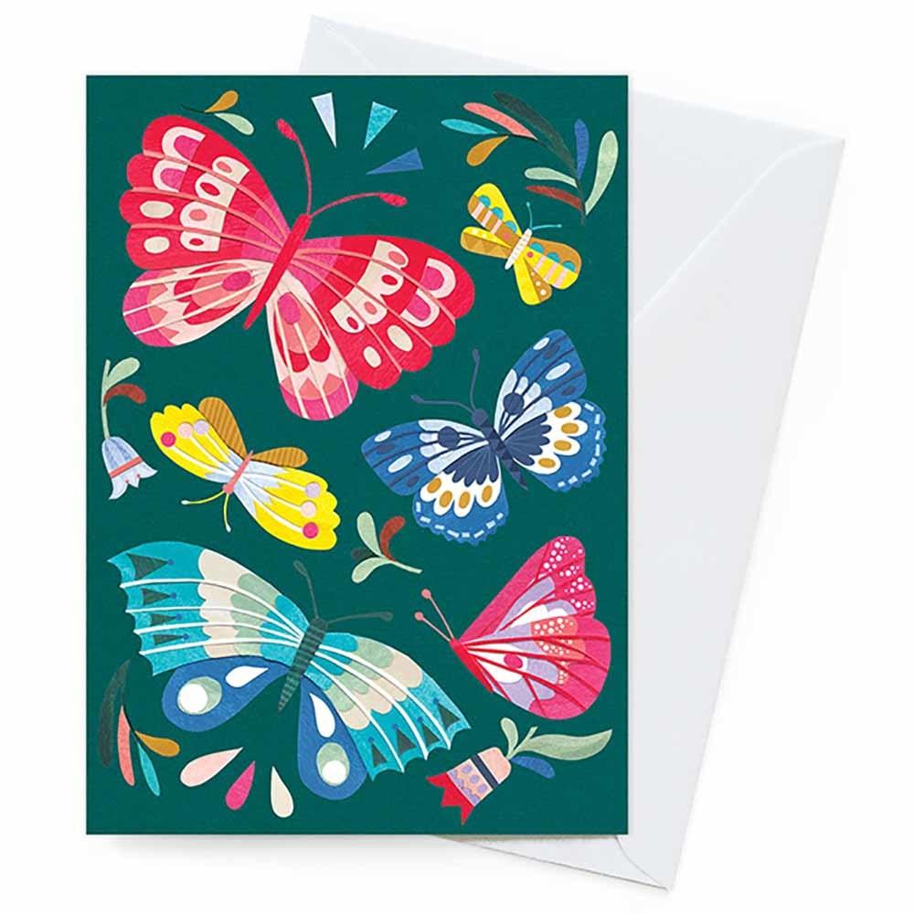 Earth Greetings Blank Card - Tropical Butterflies