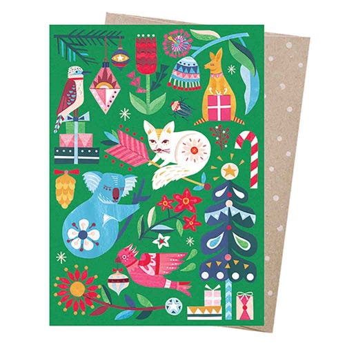 Earth Greetings Christmas Card - Festive Wonderland