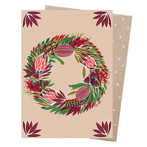 Earth Greetings Christmas Card - Native Wreath