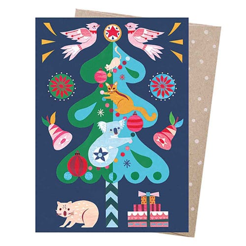 Earth Greetings Christmas Card - Wishing Tree