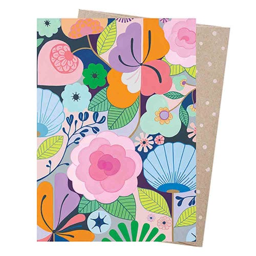 Earth Greetings Blank Card - Full Bloom