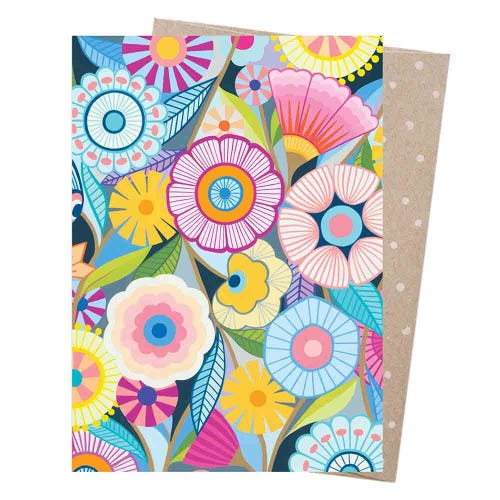 Earth Greetings Blank Card - Flower Field