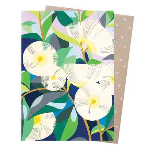 Earth Greetings Blank Card - Lemon Scented Gum