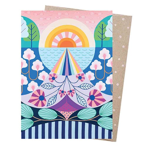 Earth Greetings Blank Card - Look To The Light