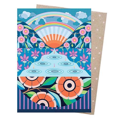 Earth Greetings Blank Card - Look For Rainbows