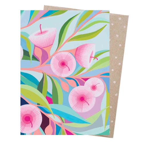 Earth Greetings Blank Card - Pink Blossom