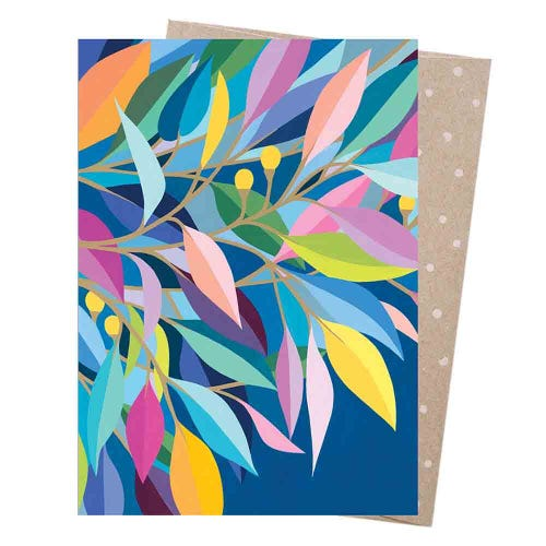 Earth Greetings Blank Card - Rainbow Gum