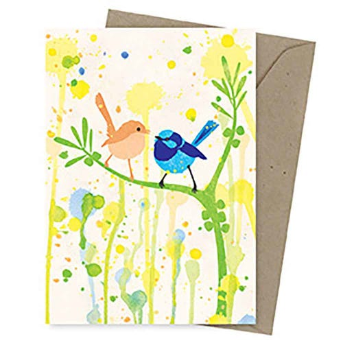 Earth Greetings Blank Card - Superb Fairy Wren