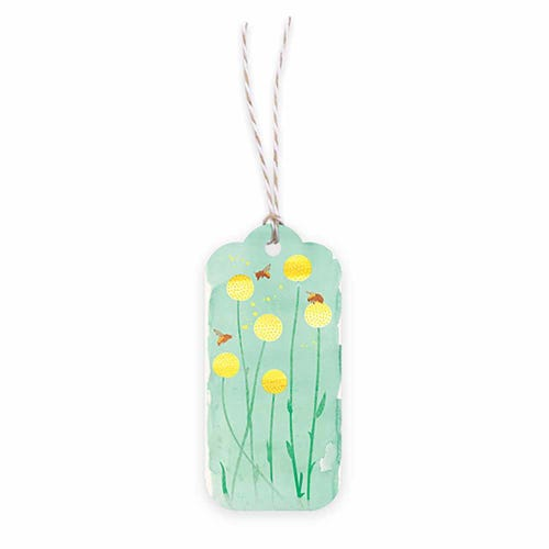 Earth Greetings Gift Tag - Bees & Billy Buttons