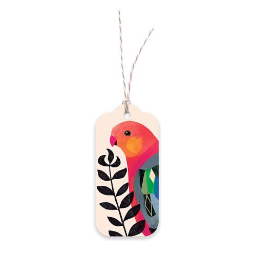 Earth Greetings Gift Tag - King Parrot