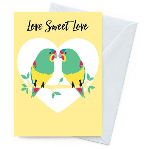 Earth Greetings Blank Card - Swift Parrot Love