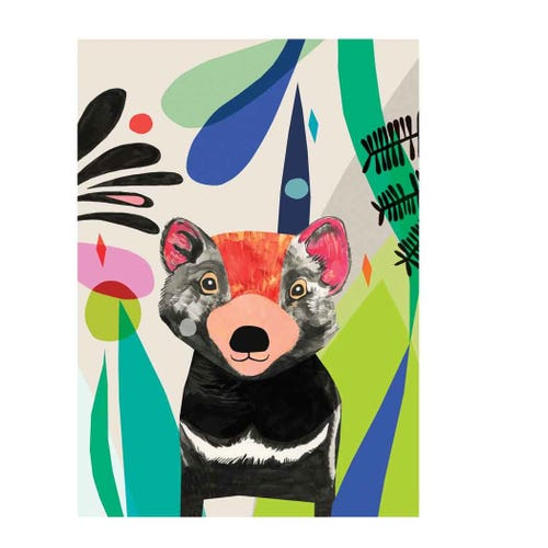 Earth Greetings Blank Card - Tasmanian Devil