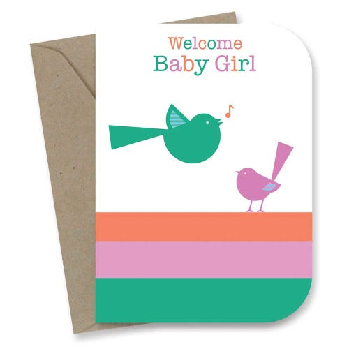 Earth Greetings Card - Baby Girl Wren