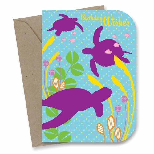 Earth Greetings Card - Kids Birthday Sea Turtles