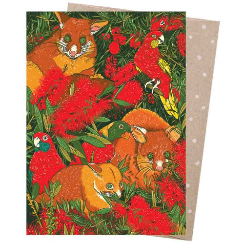 Earth Greetings Christmas Card - Possom's Menagerie
