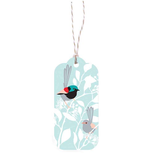 Earth Greetings Christmas Gift Tag - Fairy Wrens