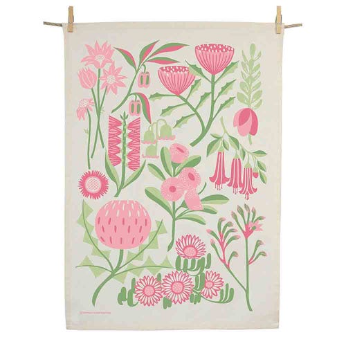 Earth Greetings Organic Tea Towel - Bountiful Land