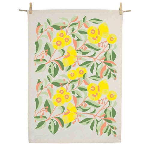Earth Greetings Organic Tea Towel - Lemon Scented Gum