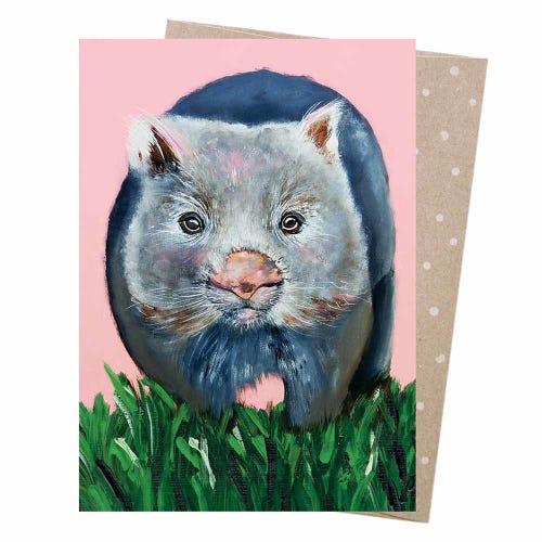 Earth Greetings Blank Card - Watson Wombat