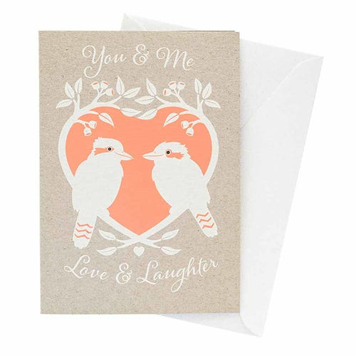 Earth Greetings Blank Card - Kookaburra Love