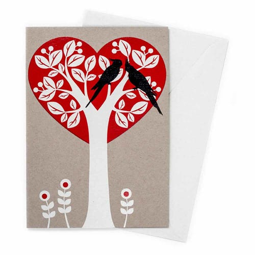 Earth Greetings Blank Card - Treeheart