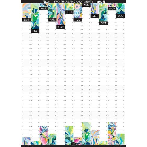 Earth Greetings 2020 Artist Wall Planner