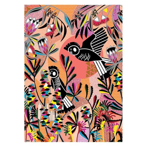Earth Greetings Wrapping Paper - Carnaby's Cockatoos (1 Sheet)