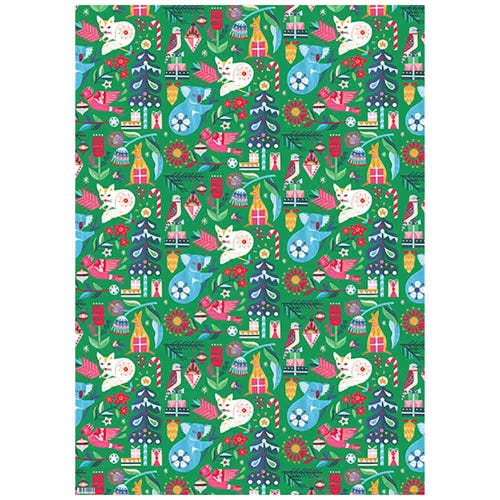Earth Greetings Wrapping Paper - Festive Wonderland (1 Sheet)