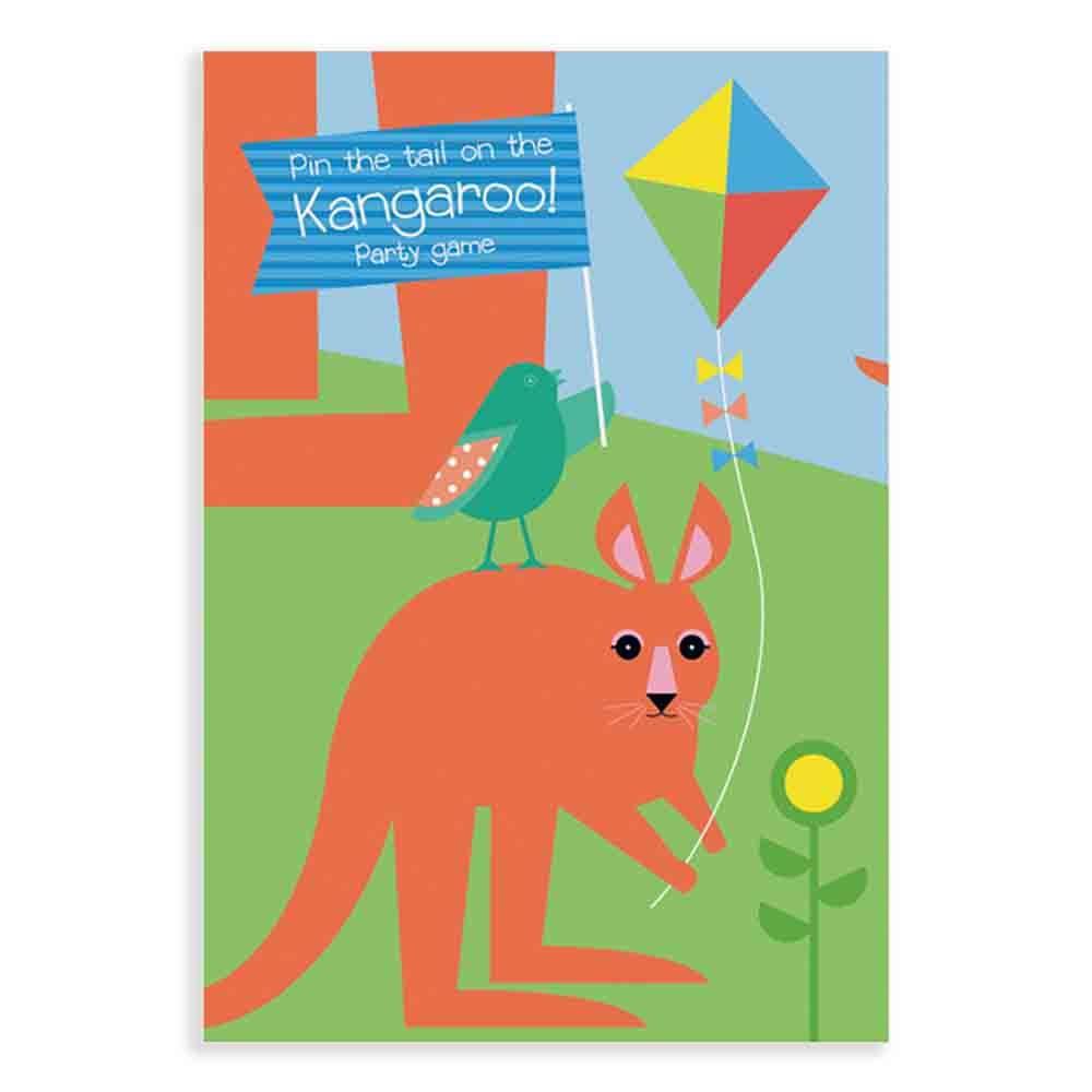 Earth Greetings Wrapping Paper - Kangaroo Game (1 Sheet)