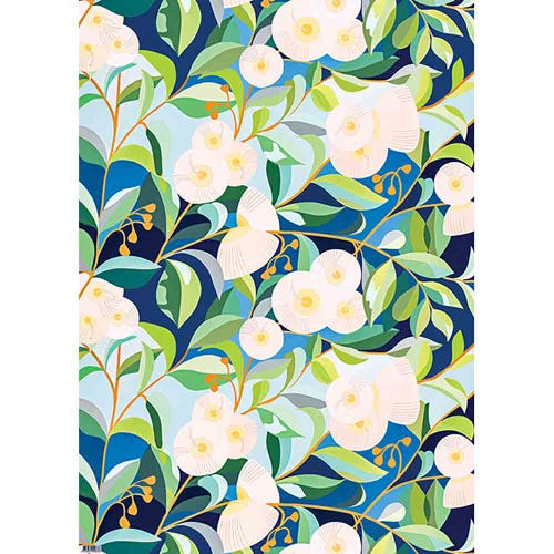 Earth Greetings Wrapping Paper - Lemon-Scented Gums (1 Sheet)