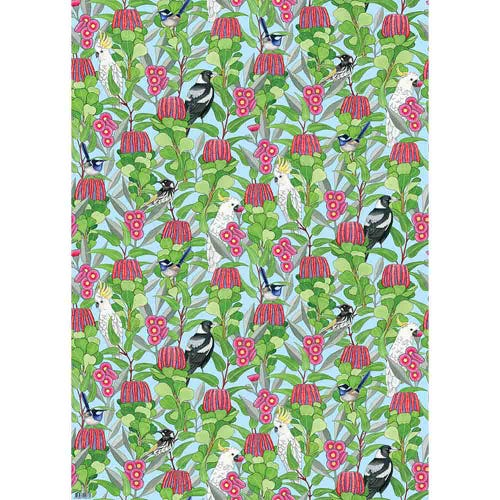 Earth Greetings Wrapping Paper - Native Jazz (1 Sheet)