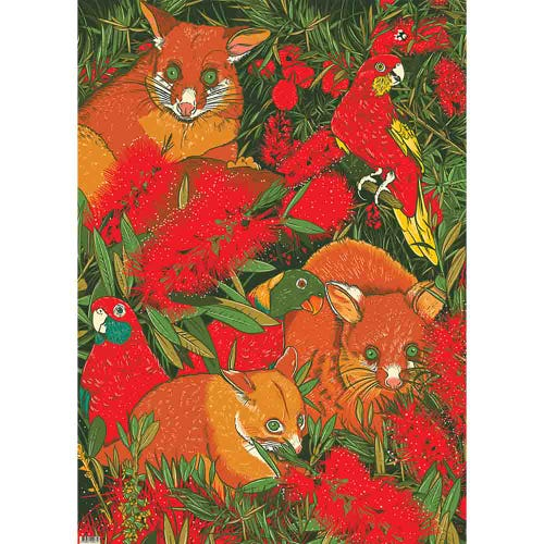 Earth Greetings Wrapping Paper - Possom's Menagerie (1 Sheet)