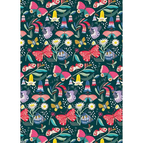 Earth Greetings Wrapping Paper - Tropical Butterflies (1 Sheet)