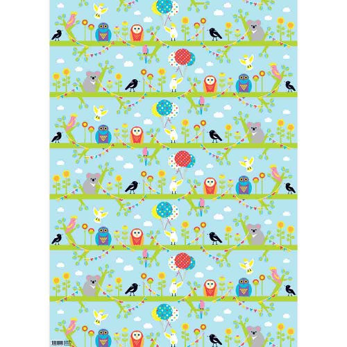 Earth Greetings Wrapping Paper - Tree Party (1 Sheet)