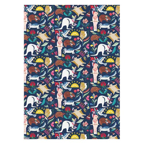 Earth Greetings Wrapping Paper - Wild Natives (1 Sheet)