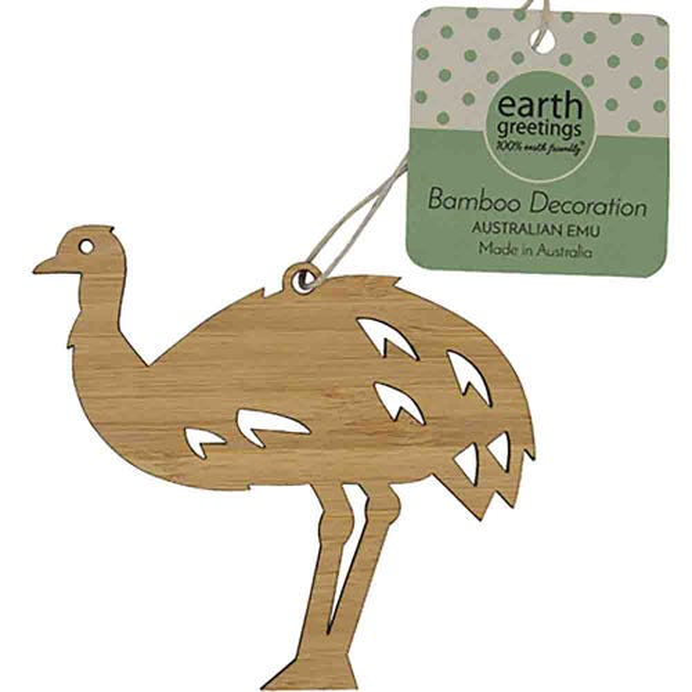 Earth Greetings Bamboo Decoration - Australian Emu