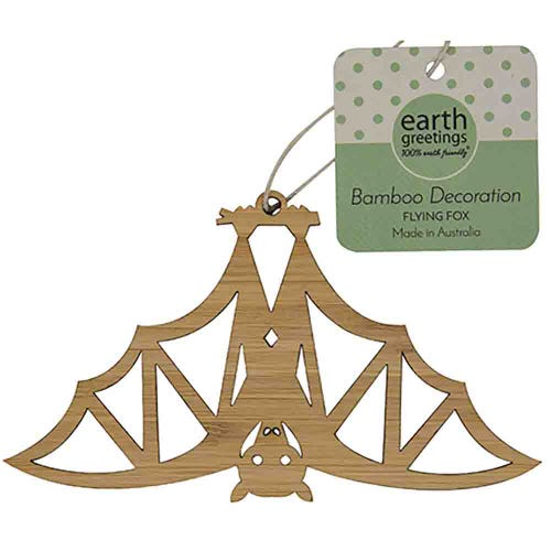 Earth Greetings Bamboo Decoration - Flying Fox