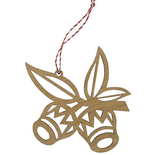 Earth Greetings Bamboo Decoration - Gumnuts