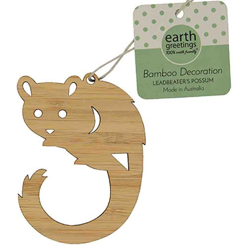 Earth Greetings Bamboo Decoration - Leadbeater's Possom