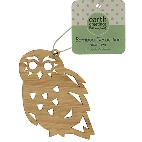 Earth Greetings Bamboo Decoration - Night Owl